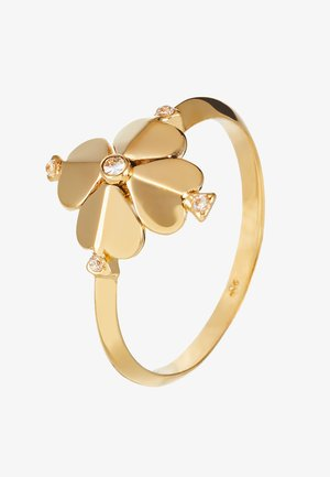 LEGACY LOGO FLOWER - Ring - clear gold-coloured