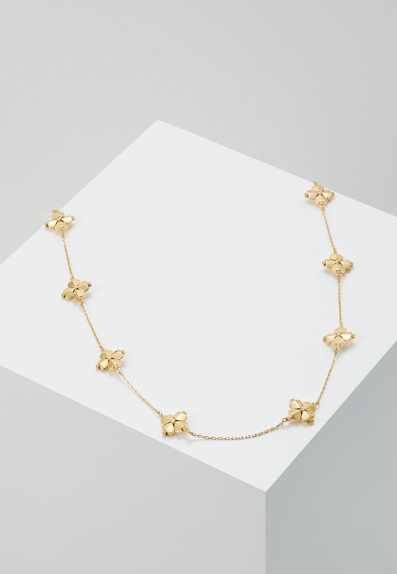 kate spade new york - LEGACY LOGO FLOWER - Halskette - clear/gold-coloured