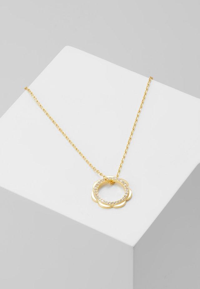 SLENDER SCALLOPS CIRCLE PENDANT - Náhrdelník - clear/gold-coloured