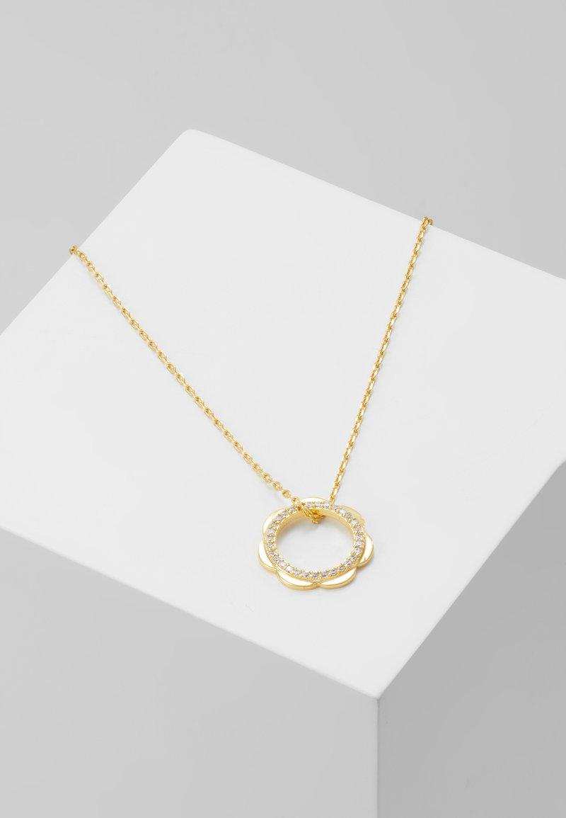 kate spade new york - SLENDER SCALLOPS CIRCLE PENDANT - Halskette - clear/gold-coloured