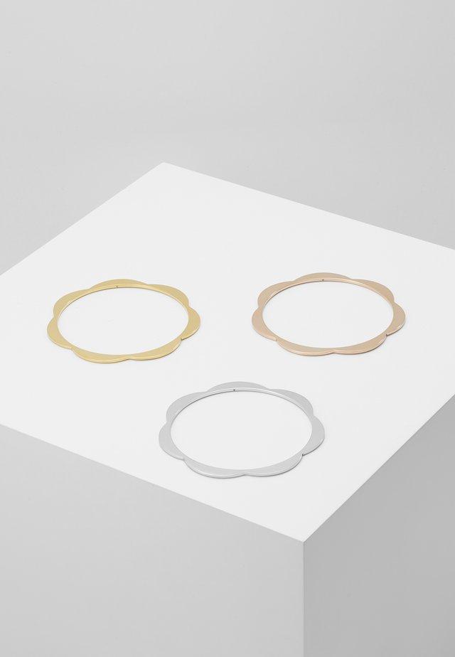 SLENDER SCALLOPS BANGLE SET - Armband - silver-coloured/gold-coloured/rosegold-coloured