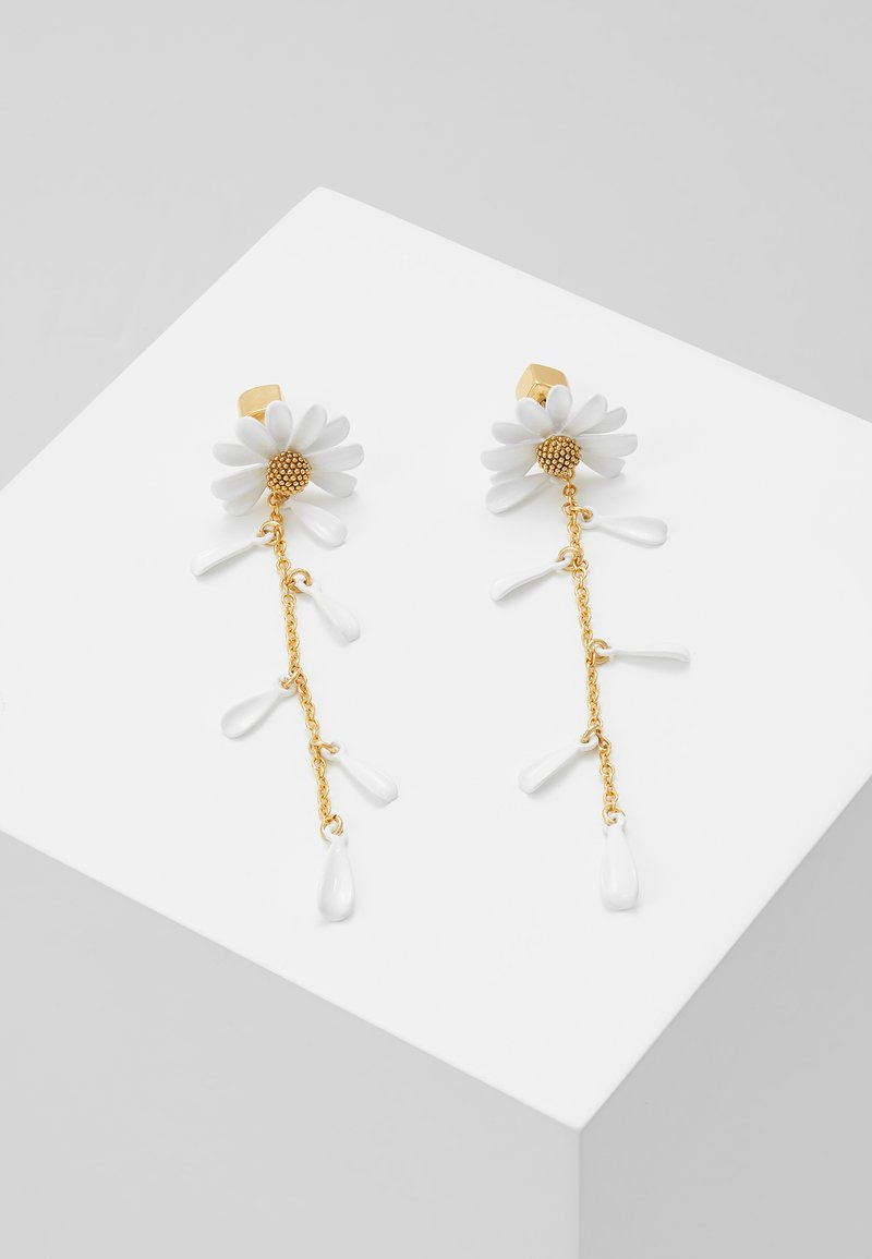 kate spade new york - INTO THE BLOOM LINEAR - Pendientes - white