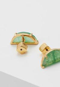 kate spade new york - HALF MOON MINI SCALLOP - Pendientes - green - 2