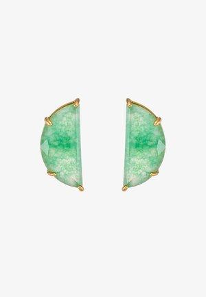 HALF MOON MINI SCALLOP - Ohrringe - green