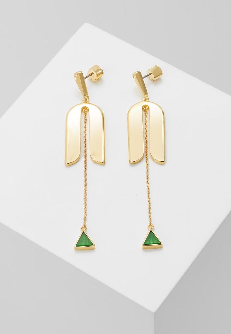 kate spade new york - MODERN ICON LINEAR EARRINGS - Earrings - green