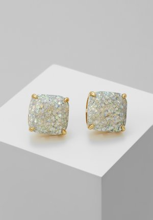 SMALL SQUARE STUDS - Kolczyki - silver-coloured