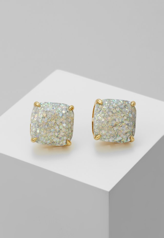 SMALL SQUARE STUDS - Ohrringe - silver-coloured