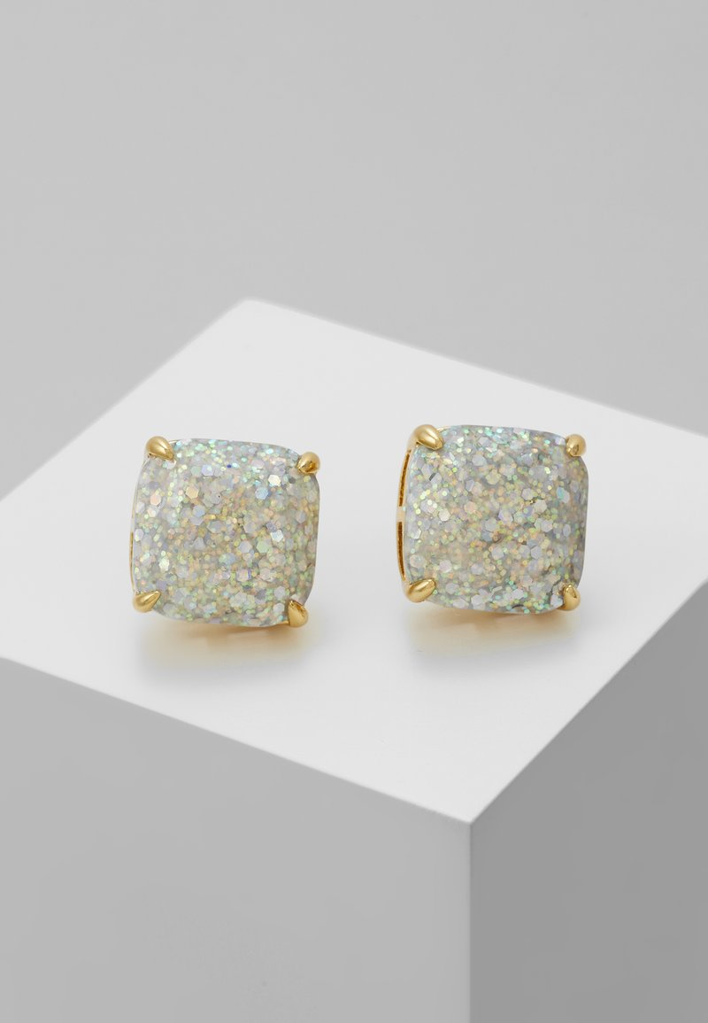 kate spade new york - SMALL SQUARE STUDS - Ohrringe - silver-coloured