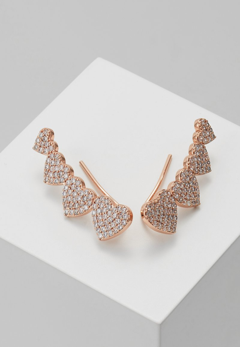 kate spade new york - EAR PINS - Earrings - clear/rose gold-coloured