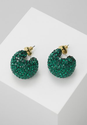 CLAY PAVE HUGGIES - Oorbellen - emerald