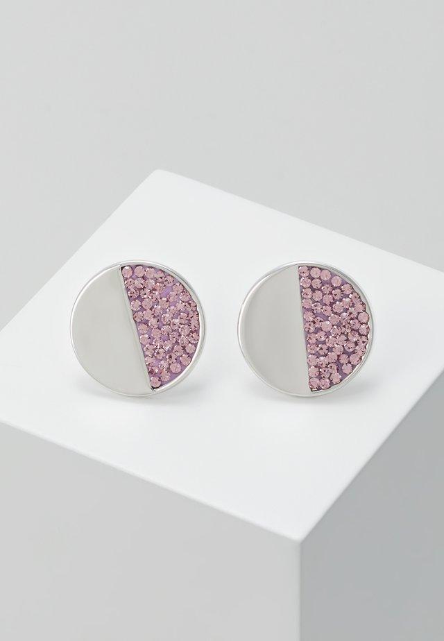 PAVE STUDS - Earrings - light amethyst
