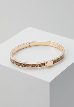 GLITTER THIN SPADE BANGLE - Armbånd - rosegold-coloured