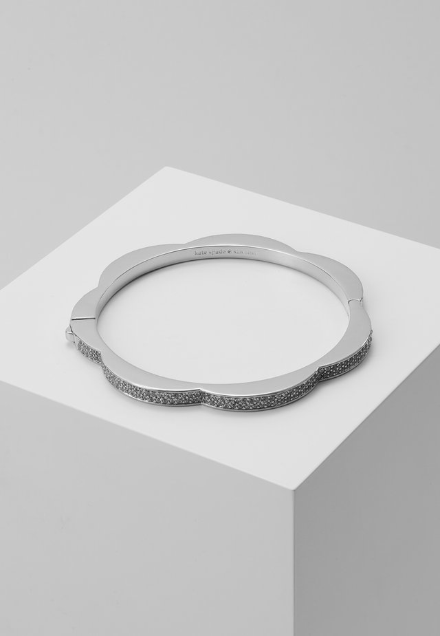PAVE HINGED BANGLE - Bransoletka - clear/silver-coloured
