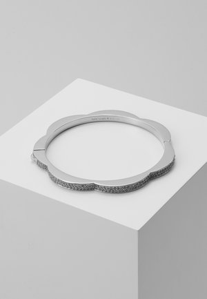 PAVE HINGED BANGLE - Pulsera - clear/silver-coloured