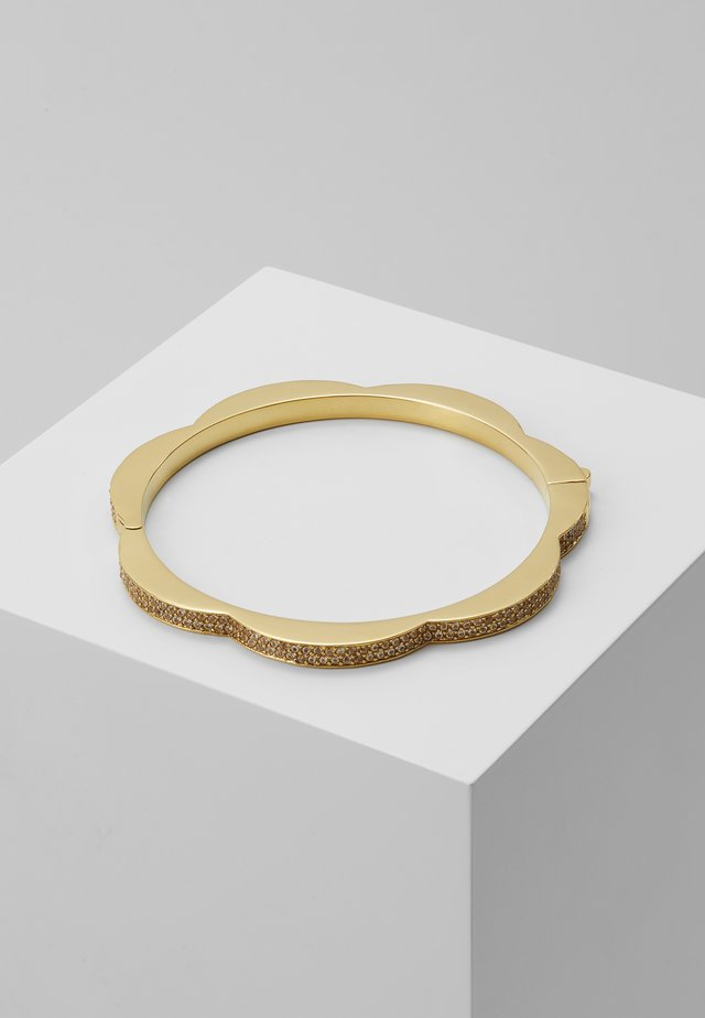 PAVE HINGED BANGLE - Bransoletka - clear/gold-coloured