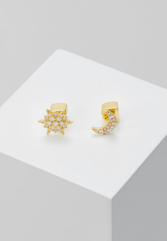 ASYMMETRICAL STUDS - Örhänge - clear/gold-coloured