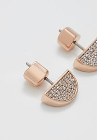 kate spade new york - PAVE STUDS - Earrings - clear/rose gold-coloured - 2