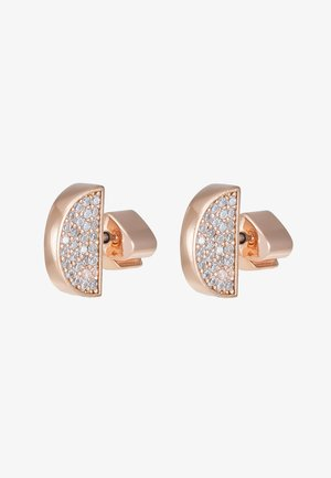 PAVE STUDS - Earrings - clear/rose gold-coloured