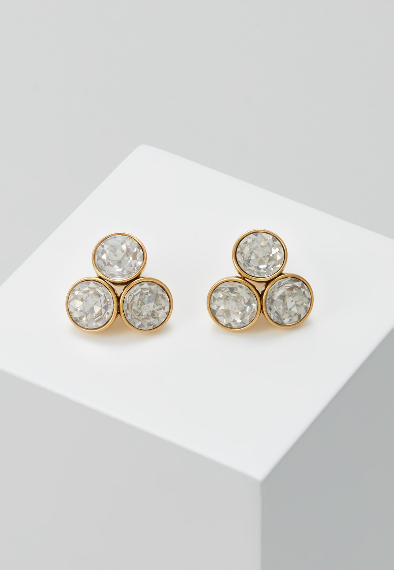 kate spade new york SMALL CLUSTER STUDS - Örhänge - clear/gold-coloured
