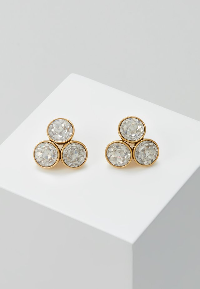 SMALL CLUSTER STUDS - Kolczyki - clear/gold-coloured