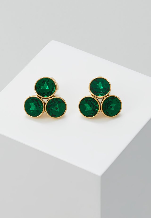 SMALL CLUSTER STUDS - Earrings - emerald