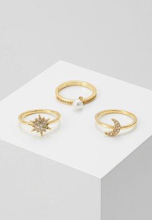 SET - Ringe - clear/gold-coloured