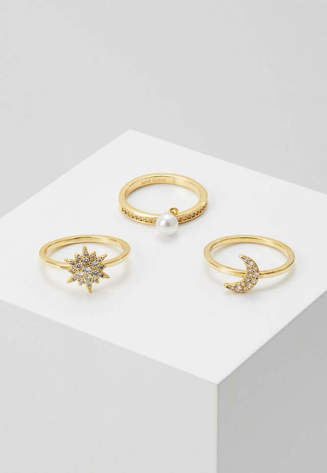 SET - Ringar - clear/gold-coloured