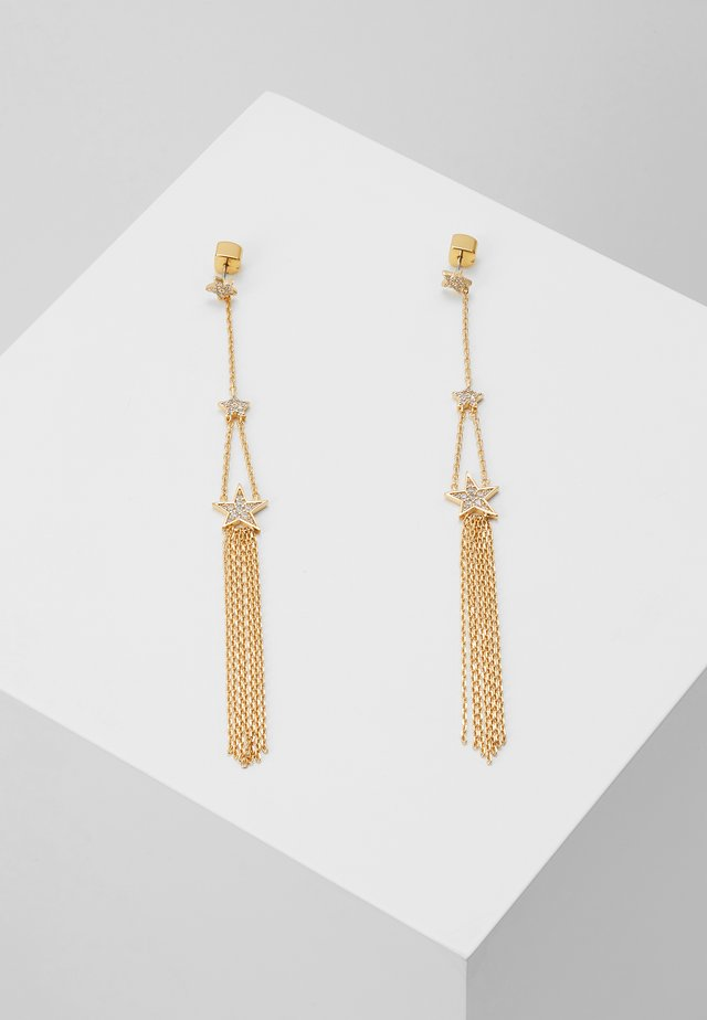 LINEAR EARRINGS - Ohrringe - clear/gold-coloured