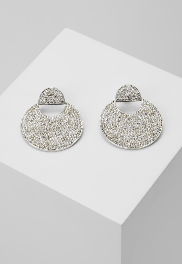 PAVE DROP EARRINGS - Ohrringe - clear
