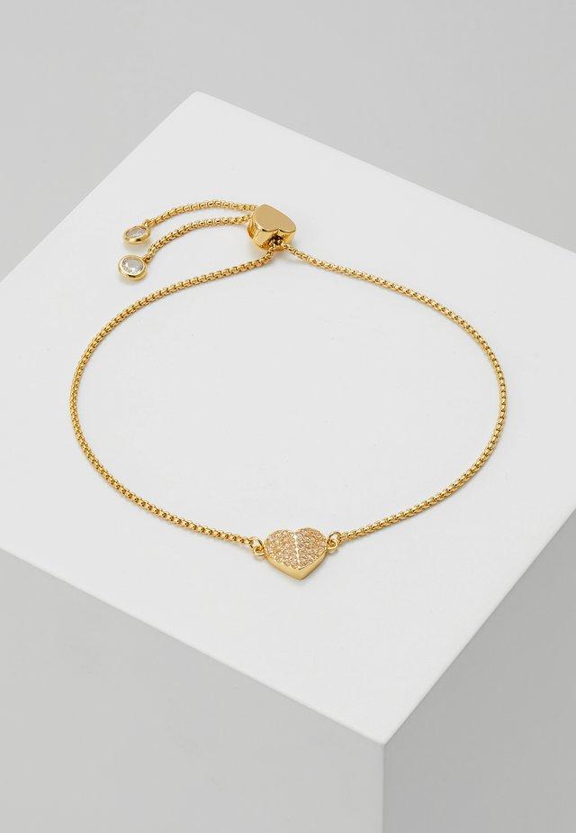 PAVE SLIDER BRACELET - Armband - clear/gold-coloured