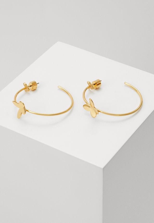 IN A FLUTTER BUTTERFLY HOOPS - Orecchini - clear/gold-coloured