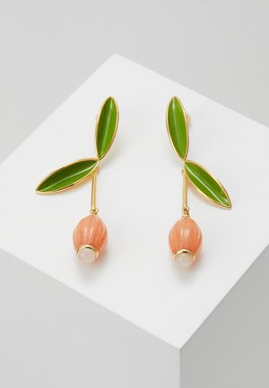 BEST BUDS FLOWER DROP EARRINGS - Earrings - coral/multi