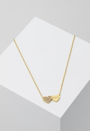 MOM KNOWS BEST PAVE HEART PENDANT - Necklace - clear/gold-colores