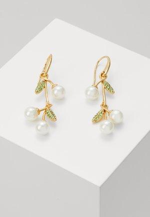 CHERIE CHERRY LINEAR EARRINGS - Earrings - cream/multi-coloured