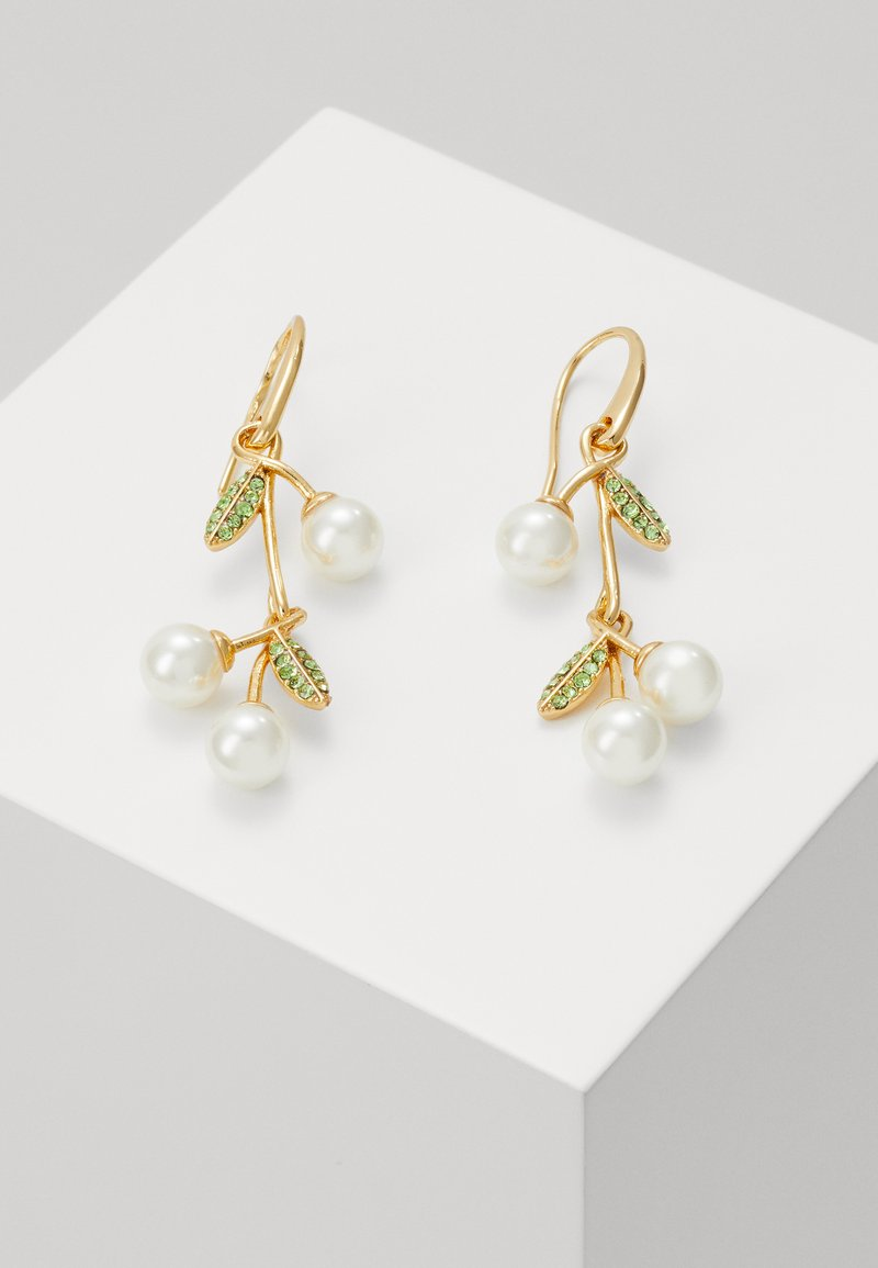 kate spade new york - CHERIE CHERRY LINEAR EARRINGS - Boucles d'oreilles - cream/multi-coloured