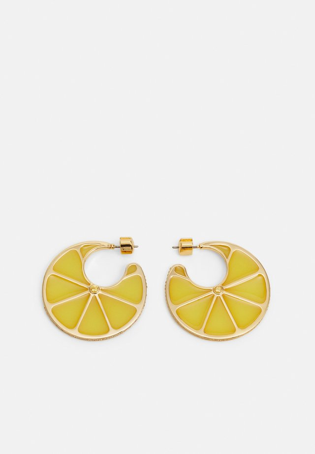 TUTTI FRUITY LEMON HOOPS - Kolczyki - yellow