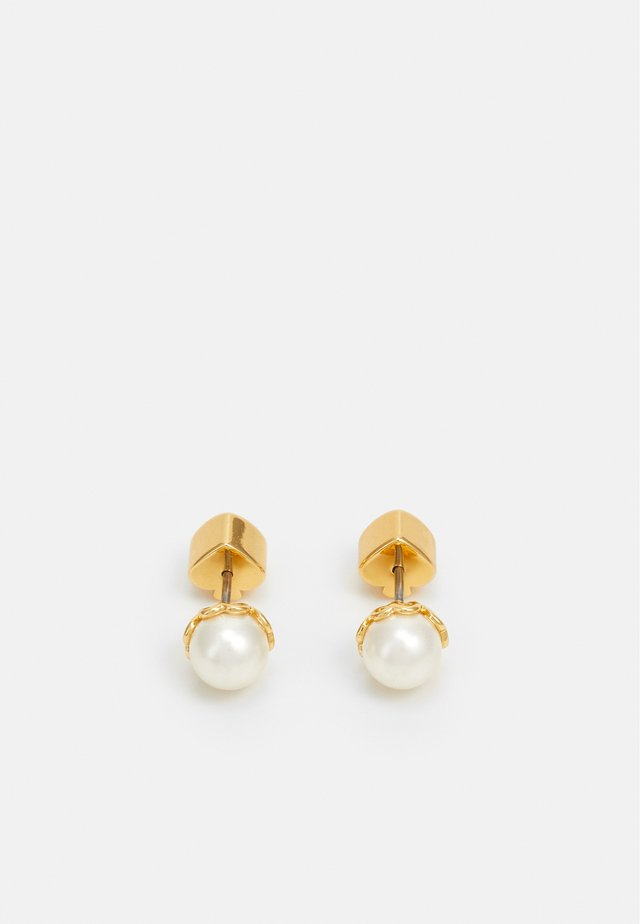 PEARLETTE EMINI PEARL STUDS - Earrings - white