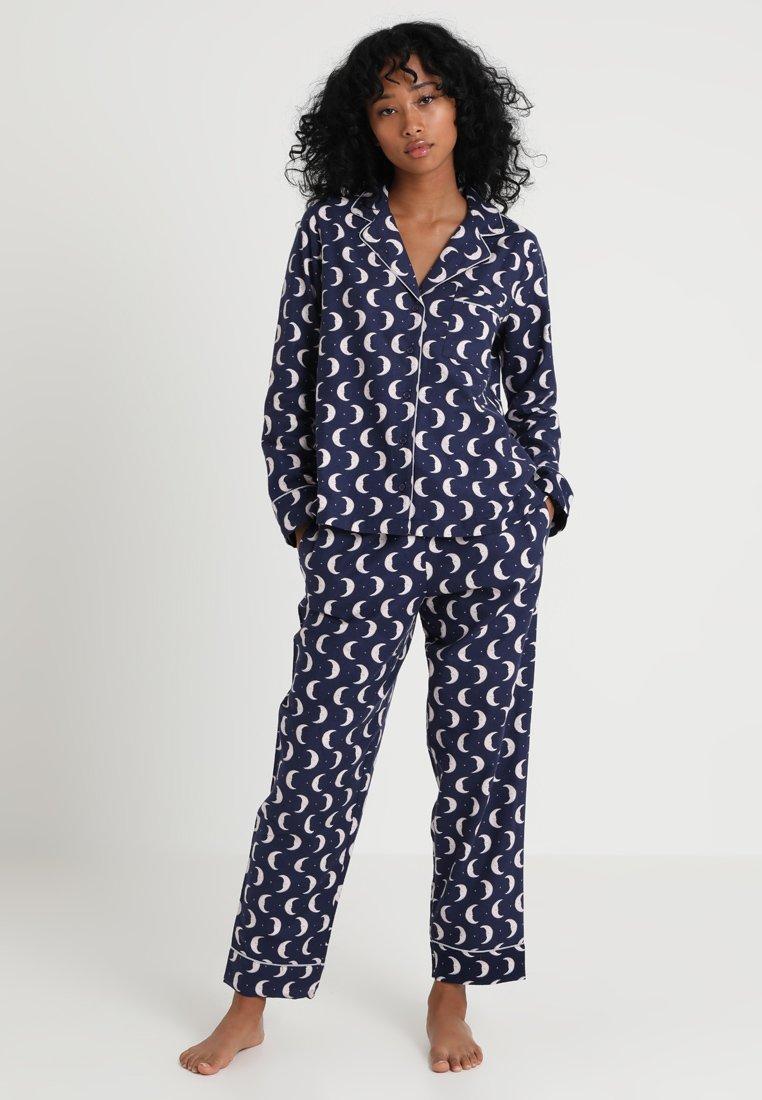 kate spade new york - LONG PJ SET - Pyjama - blaz/weiss