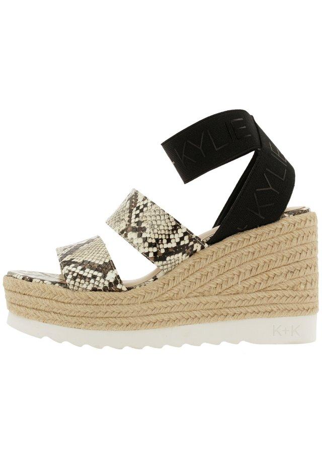 PRIM - Platform sandals - natural