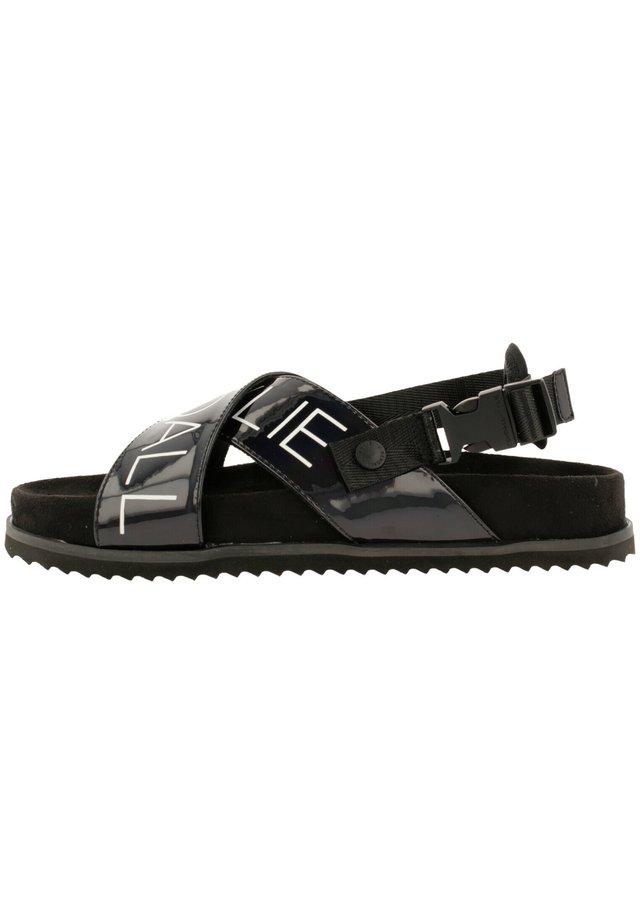 TIAL - Sandalen met plateauzool - black