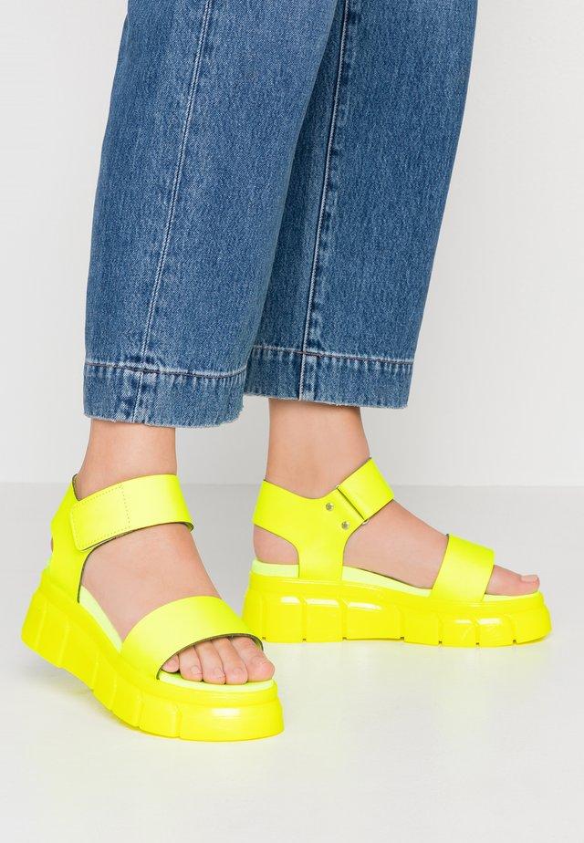 ARGO - Platform sandals - yellowneon