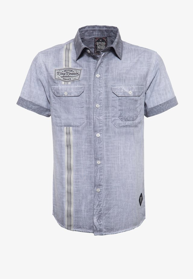 Shirt - stahlgrau