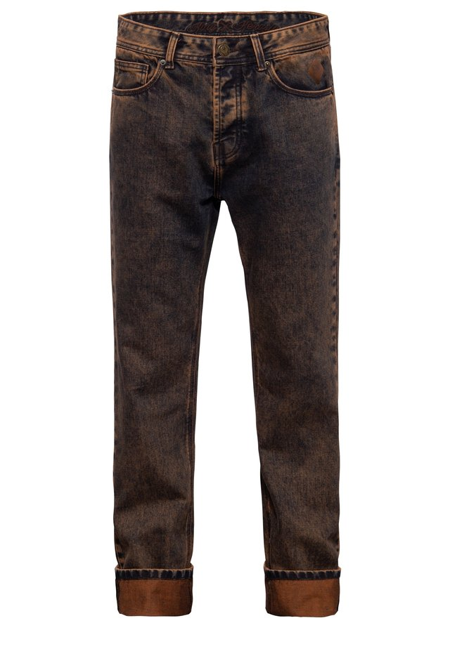 Straight leg jeans - rostbraun