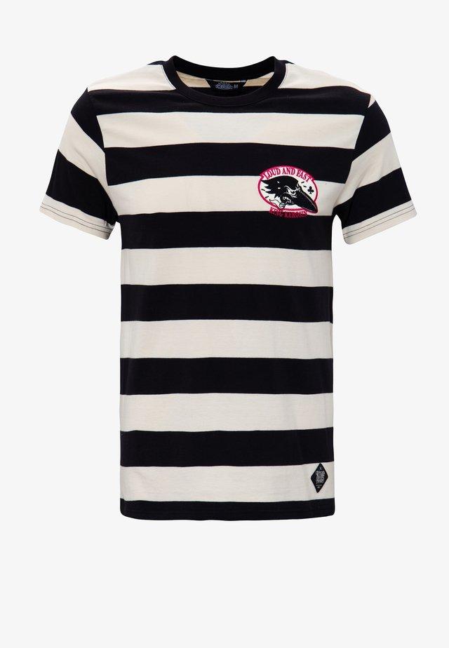 T-shirt imprimé - black / white