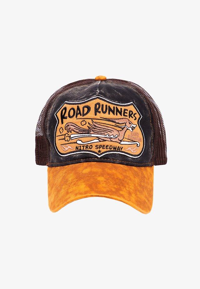 TRUCKER »ROAD RUNNERS« MIT WITZIGER STICKEREI - Cap - schwarz