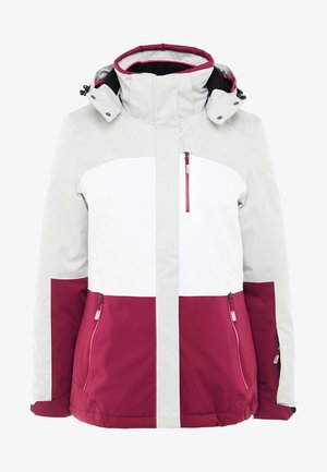 SEWIA - Ski jas - white/berry/light grey