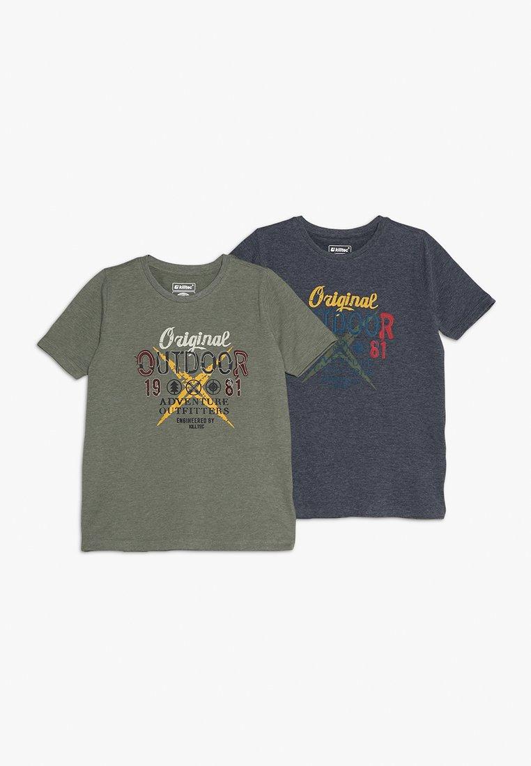 Killtec - ADAIRO 2 PACK - T-Shirt print - dunkelnavy/khaki
