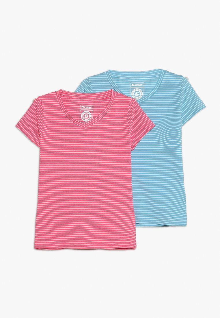 Killtec - MADA 2 PACK - T-shirt con stampa - pink/hell denim