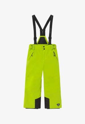 GAUROR - Snow pants - lime/schwarz