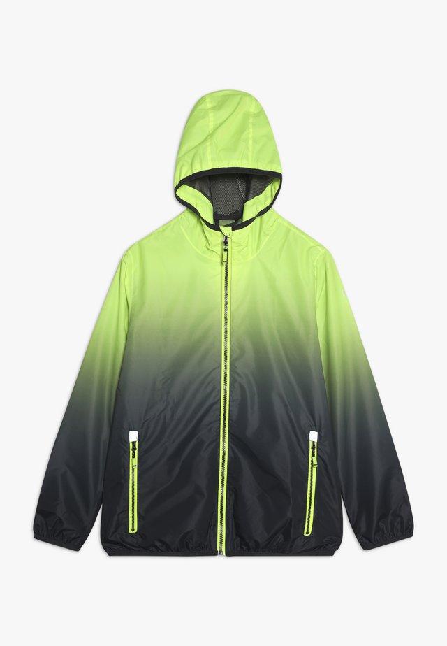 KALIQO  - Regenjacke / wasserabweisende Jacke - neon gelb